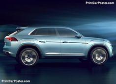 Volkswagen Cross Coupe GTE Concept 2015 poster, #poster, #mousepad, #tshirt, #printcarposter