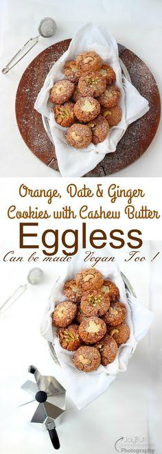 Jagruti's Cooking Odyssey: Orange, Date and Ginger Oat Cookies with Cashew Butter #Valentinesdaytreat #Bakedyummycookies #Valentinesdaygiftidea #jcookingodyssey