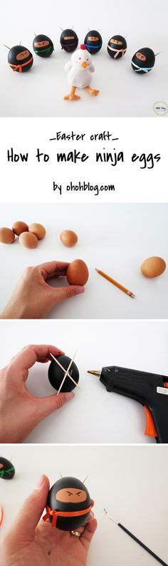 Make Ninja eggs for Easter l #Easterfun