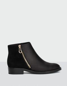 Pull&Bear - femme - chaussures - tout afficher - bottine fermeture éclair - noir - 15000111-I2016