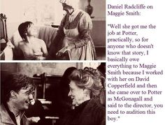 Harry Potter: Daniel Radcliffe and Dame Maggie Smith cute!