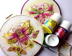 Pebeo fabric painting, sewing patterns.