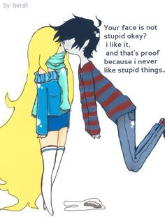 Fionna and Marshall lee. i love love love the message!!!