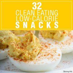 32 Clean Eating Low-Calorie Snacks