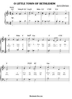 O Little Town Of Bethlehem Sheet Music Christmas Sheet Music Download O Little Town Of Bethlehem Piano Sheet Music Free PDF Download