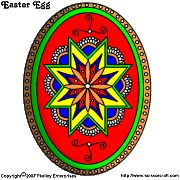 Pysanky patterns to print then color.  A wonderful site.  Information on the meanings of the symbols as well.