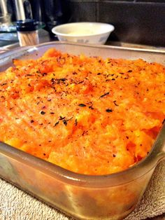 Turkey and Butternut Squash Shepard's Pie. Would use ground chicken in place of turkey. Maybe add some coconut milk to butternut squash for creaminess?