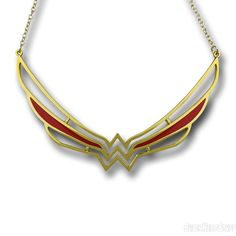 Images of Wonder Woman Symbol Collar Necklace
