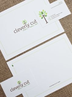 Logo / Business Card / Branding  by Lisa Reichman, Ashley Jankowski  Cleverly Cut by Lisa Reichman, via Behance