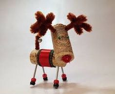 cork reindeer - Google Search