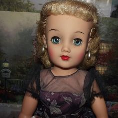 "Vintage Platinum Blonde  MIss Revlon In Original tagged dress 18"" Circa 1956 from Stuck On Dolls - stuckondolls@gmail.com for $175.00"