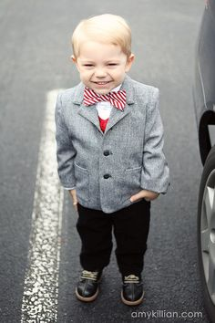 How cute is this little man in this bow tie?