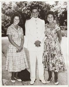 Princess Irene, Crown Prince Constantine and Princess Sophie of Greece, 1957