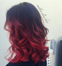 #CandiceAlice #hairstyling #hairdying #ombrehairredandblack #hair #curls
