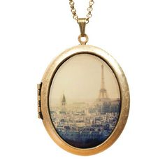 Heart In Paris Locket Necklace