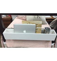 Bed Rail Cubby - White – Dorm-Decor