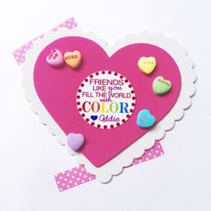 Welcome to K&M Goods!  Add a little Color to your loved ones Valentines Days with this cute Valentines Day tag! Just add some cute crayons, paints, or