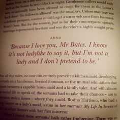 anna and bates...my nerdy heart swoons for them!