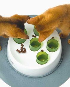 Catit Senses 2.0 Digger Zabawka do dokarmiania dla kota zachęca koty do pracy wposzukiwaniu potraw jego inteligentny design gra na instynkcie kota, aby wydobyć mniejsze porcje