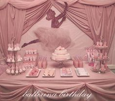 DIY ballerina backdrop: designed a ballerina silhouette for the invitation and nametags, and I used the same silhouette for the backdrop. I by eddie