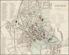 Oxford town plan 1890 – Old Towns Maps