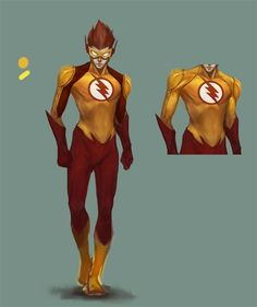 shhhhhhhhh.. Keep this a secret. but here is our first concept design on Kid Flash. This is in its infancy.. The very first stage. but, shhhhh dont tell anyone..... Made by Nino Agular (Concept Art Designer for Teen Titans Project) Kid Flash (c) DC Comics This version (c) Teen Titans Project