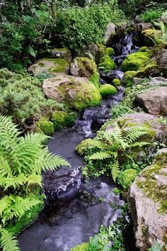 Most recent Cost-Free japanese garden waterfall Style Japan gardens will be traditional backyards that make little idealized countryside, often in a very fuzy and s. Backyard Stream, Garden Stream, Backyard Water Feature, Ponds Backyard, Water Garden, Garden Pond, Garden Plants, Koi Ponds, Natural Pond