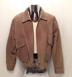 90s Luis Alvear BRASS RAIL Leather Bomber Jacket / Vintage Distressed 100% Genuine Leather Broken In Heavy Duty Leather Jacket Mens Size XL bshBQ