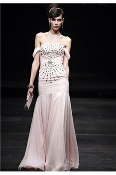 Gorgeous A-Line Off-the-Shoulder Beadings Evening Dresses