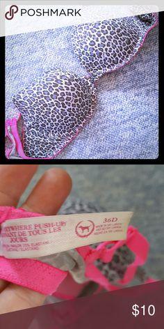 VS pushup bra Cute leapord print Victoria's Secret Intimates & Sleepwear Bras