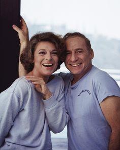 Anne Bancroft and Mel Brooks, October 1983