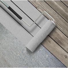 Cape Cod Gray Smooth Solid Color Exterior Wood and Concrete - The Home Depot BEHR Premium Advanced DeckOver 1 gal. Grey Deck Paint, Painted Wood Deck, Porch Paint, Painted Floors, Deck Over Paint, Gray Deck, Deck Over Concrete, Gray Paint, Behr Deck Over Colors