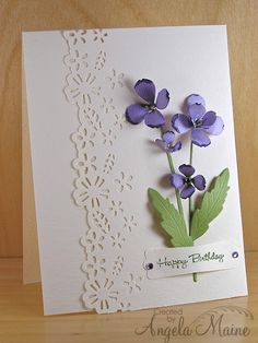 Beautiful example of use of norrland flower die by memory box