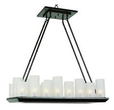 "View the Trans Globe Lighting 9958 32"" Width 18 Light Linear Pillar Candle Chandelier at Build.com."