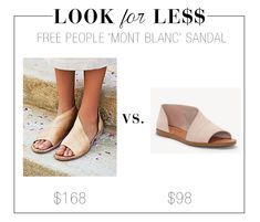 f81388eed96 Look for Less  Free People  Mont Blanc  Sandal