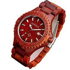 Wood Watch, Watches, Accessories, Husband, Cassette Tape, Boyfriend, Watch, Red, Gifts