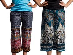 Check out Punjammies: colorful pajama pants handmade in India by women who have escaped forced prostitution.