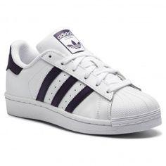 Buty adidas - Superstar W Ftwwht/Legpur/Cblack Furla, Adidas Superstar, Supergirl, Clarks, Tommy Hilfiger, Adidas Sneakers, Shoes, Fashion, Moda