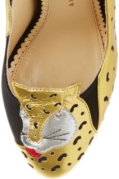 Ninivah crepe and leather pumps by Charlotte Olympia