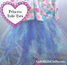 Princess Tulle Tutu Craft for Kids
