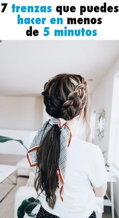 A quick and simple yet elegant hairstyle once in 10 Czech woman these seven braids you can do in less than 5 minutes Casual Hairstyles, Elegant Hairstyles, Messy Hairstyles, Elegance Hair, Fairy Hair, Estilo Fashion, Hair Looks, My Hair, Curly Hair Styles