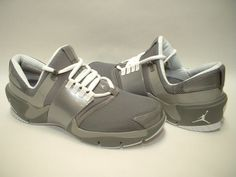 Nike Air Jordan Alpha Trainer in Cool Grey / Matte Silver / White - 1999