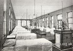 Bradford 1904 infirmary ward interior, c.1905.