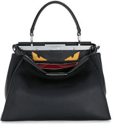 Fendi Peekaboo Monster Eyes Satchel Bag On ShopStyle