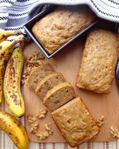 Vegan banana bread recipe -super moist, egg & dairy free. This banana bread recipe takes a few simple ingredients. Don't let those ripe bananas go to waste!
