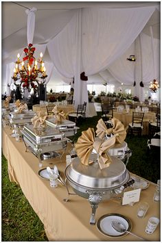 one caterer's food options, but good general ideas for what we could have