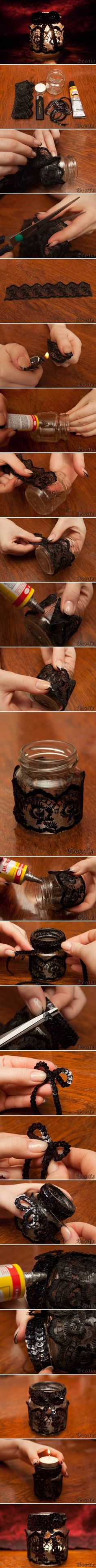 DIY Small Glass Candle Holder