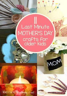 Last minute Mother's Day crafts for olderer kids