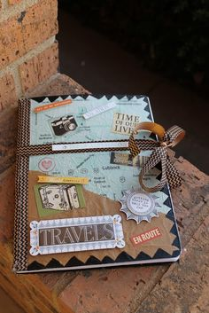 DIY Travel Journal Smash Book Gift Idea for a Graduate(14Jl)