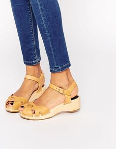 Swedish Hasbeens | Swedish Hasbeens Tan Leather Tutti Frutti Debutant Sandals at ASOS